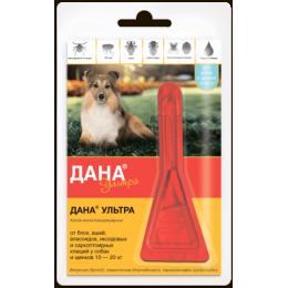 Дана Ультра Капли для собак и щенков 10-20кг 1,6мл