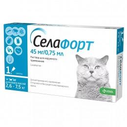 Селафорт капли от наружных и внутренних паразитов  для кошек весом 2,6-7,5кг
