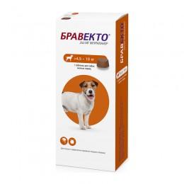 Бравекто жевательная таблетка от блох и клещей для собак весом 4,5-10 кг