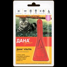 Дана Ультра  капли от блох д/кошек более 4 кг Апи-Сан