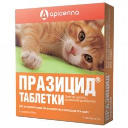 Празицид 6 таблеток для кошек,1 таб на 3кг