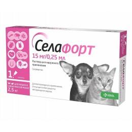 Селафорт капли от наружных и внутренних паразитов  для кошек и собак  менее 2.5кг