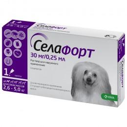 Селафорт капли от наружных и внутренних паразитов  для собак весом 2,6-5кг