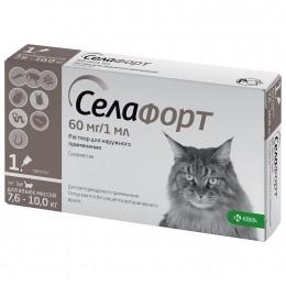 Селафорт капли от наружных и внутренних паразитов  для кошек весом 7,6 до 10кг
