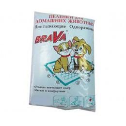 Brava Пеленки для кошек и собак одноразовые 60*40 5шт