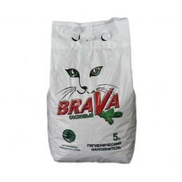 Наполнитель Brava «Сосновый» для кошачьего туалета, впитывающий, 5л