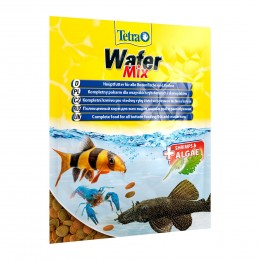 Tetra WaferMix Sachet корм со спирулиной для донных рыб и ракообразных 15г
