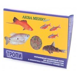 """Аква меню """"Тропи"""" хлопья д/рыб в аквариуме смешанного сообщества 11г"""