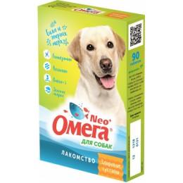 Лакомство мультивитаминное Омега Neo+ для собак с глюкозамином и коллагеном Здоровые суставы, 90 т.