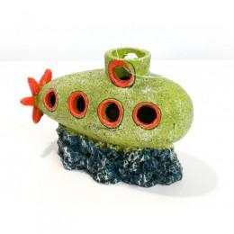Декор для аквариума GloFish Подводная лодка с Glo-эффектом 10,1*5*8см