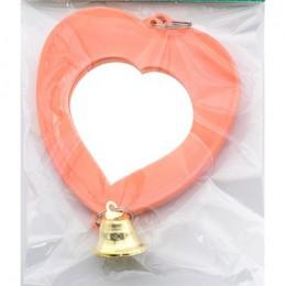 Дарэлл: грушка для птиц зеркало сердечко с колокольчиком RP5201