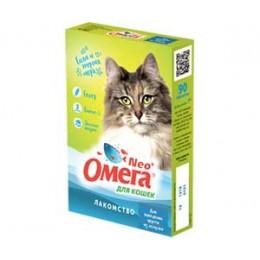Витамины Neo+ Омега для кошек с ржаным солодом 90таб