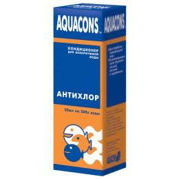 Зоомир: Aquacons АнтиХлор кондиционер для аквариумной воды 50мл